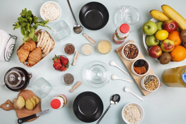 食物繊維の多い食事の画像